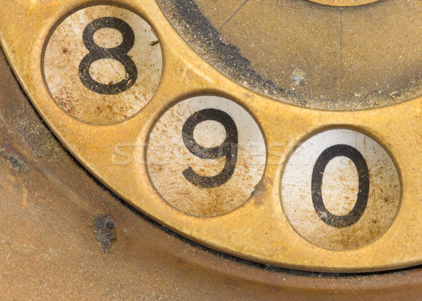 Close up of Vintage phone dial - 9 Stock photo © michaklootwijk