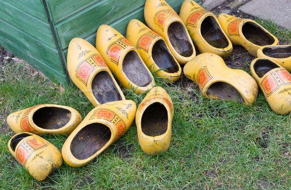 Pile of Dutch clog/Wooden Shoes Stock photo © michaklootwijk