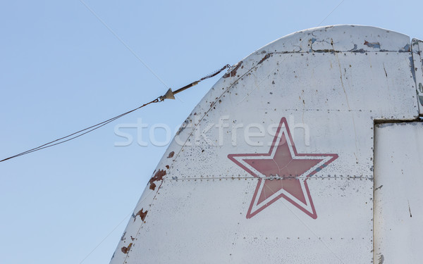 Star symbol on an old warplane Stock photo © michaklootwijk