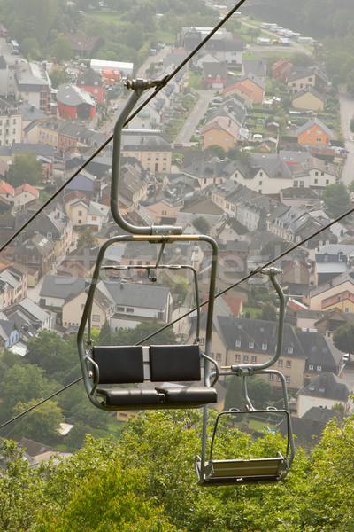 A ski lift chair Stock photo © michaklootwijk