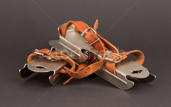 Very old dutch ice skates for a small child Stock photo © michaklootwijk