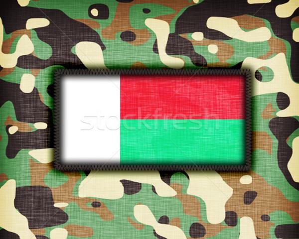Amy camouflage uniform, Madegascar Stock photo © michaklootwijk