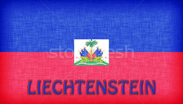Linen flag of Liechtenstein Stock photo © michaklootwijk