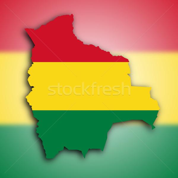 Map of Bolivia  Stock photo © michaklootwijk