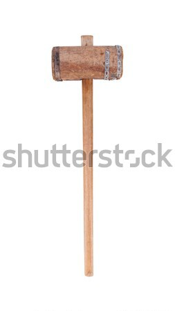 Very old wooden hammer isolated  Stock photo © michaklootwijk