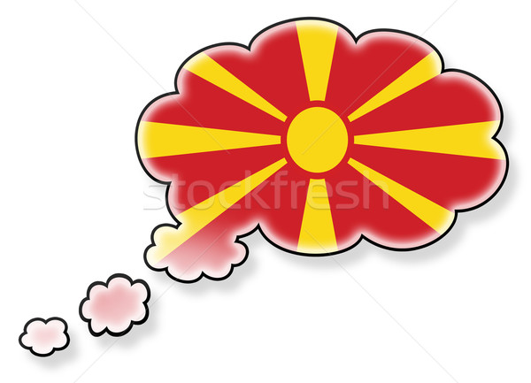 Vlag wolk geïsoleerd witte Macedonië kunst Stockfoto © michaklootwijk