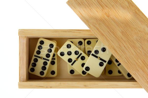 Domino in wooden box Stock photo © michaklootwijk