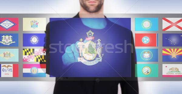 Hand voortvarend interface kiezen business Stockfoto © michaklootwijk
