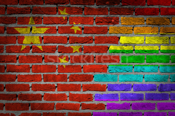 Dark brick wall - LGBT rights -  Stock photo © michaklootwijk