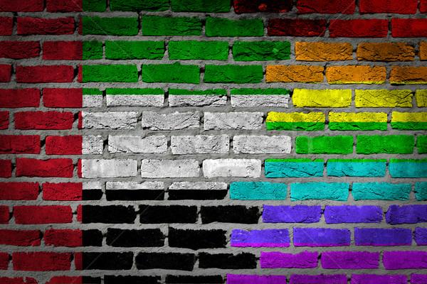Dark brick wall - LGBT rights - UAE Stock photo © michaklootwijk