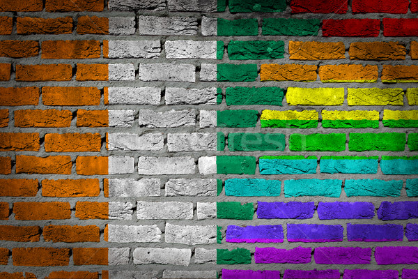 Ciemne murem prawa Wybrzeże Kości Słoniowej tekstury banderą Zdjęcia stock © michaklootwijk