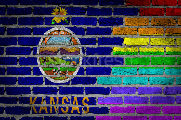 Dark brick wall - LGBT rights - Kansas Stock photo © michaklootwijk
