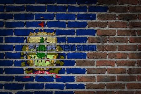 Sötét téglafal jogok Vermont textúra zászló Stock fotó © michaklootwijk