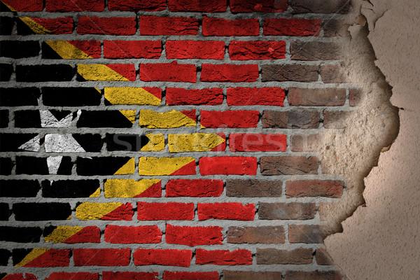 Dark brick wall with plaster - East Timor Stock photo © michaklootwijk