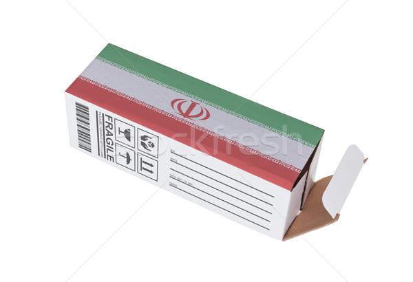 Ihracat ürün İran kâğıt kutu Stok fotoğraf © michaklootwijk