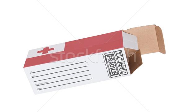 экспорт продукт Тонга бумаги окна Сток-фото © michaklootwijk