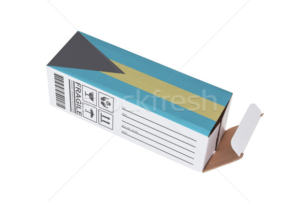 Exportar produto Bahamas papel caixa Foto stock © michaklootwijk