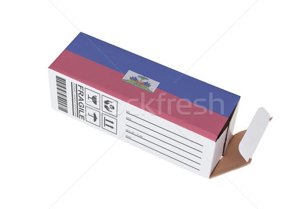 Exportar produto Liechtenstein papel caixa Foto stock © michaklootwijk