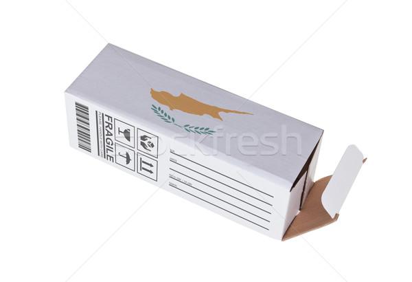 エクスポート 製品 キプロス 紙 ボックス ストックフォト © michaklootwijk