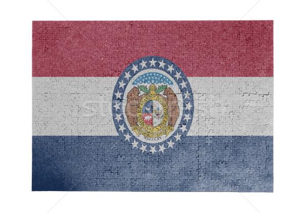 Grande rompecabezas 1000 piezas Misuri bandera Foto stock © michaklootwijk