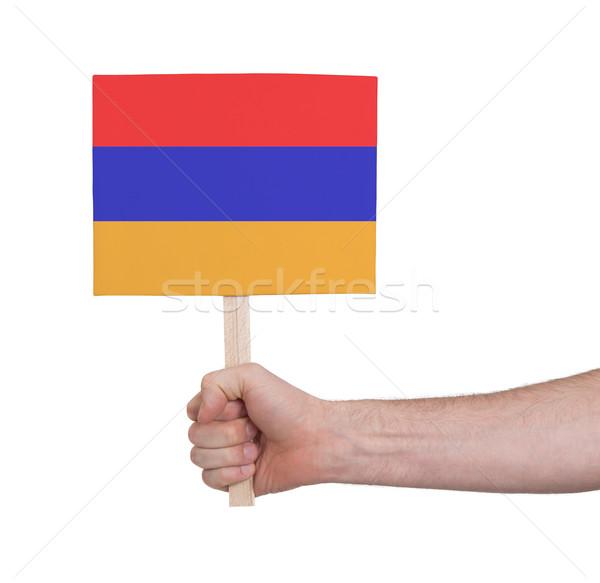 Mão pequeno cartão bandeira Armênia Foto stock © michaklootwijk