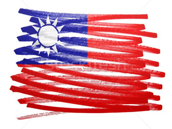 Bandeira ilustração Taiwan caneta negócio pintar Foto stock © michaklootwijk