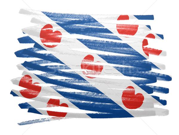 Stockfoto: Vlag · illustratie · pen · business · ontwerp · verf