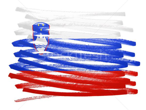 Bandeira ilustração Eslovenia caneta negócio pintar Foto stock © michaklootwijk