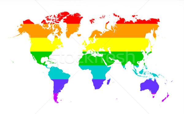 Map of world Stock photo © michaklootwijk