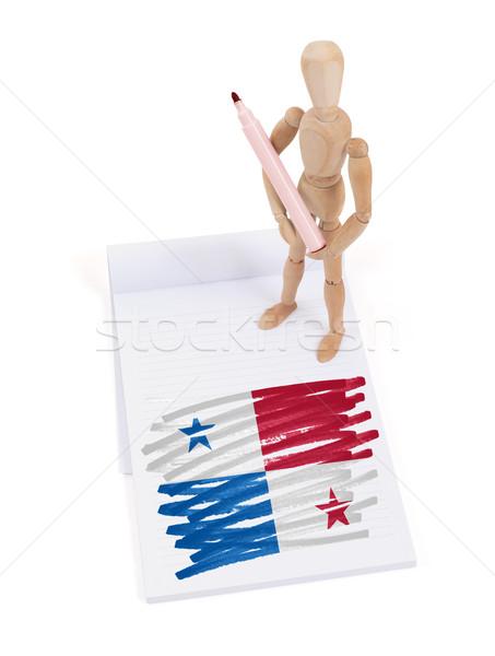 манекен рисунок Панама флаг бумаги Сток-фото © michaklootwijk