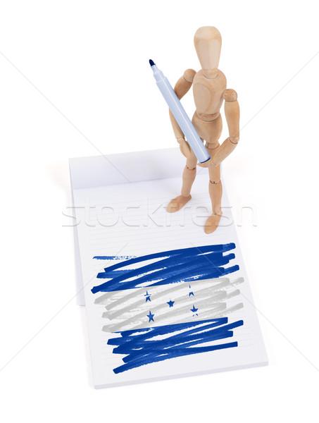 манекен рисунок Гондурас флаг бумаги Сток-фото © michaklootwijk