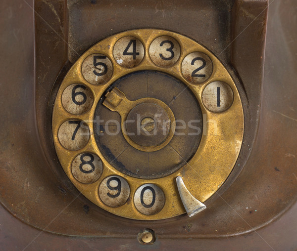 Closeup of vintage telephone dial Stock photo © michaklootwijk