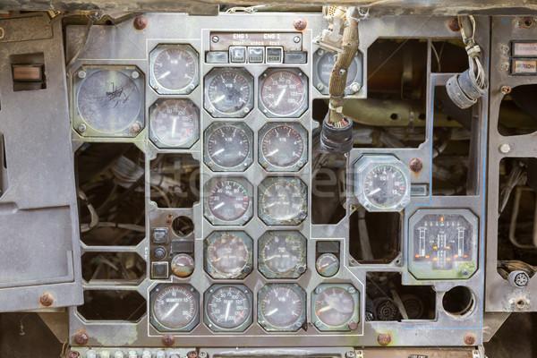 Különböző öreg repülőgép konzol számítógép technológia Stock fotó © michaklootwijk