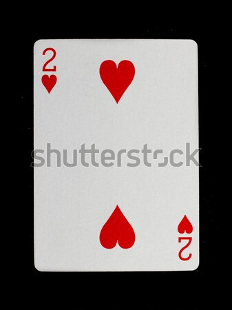 Stock photo: Old playing card (two)
