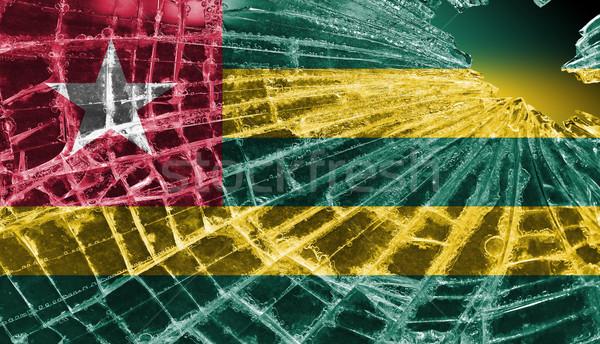 Podziale lodu szkła banderą wzór Togo Zdjęcia stock © michaklootwijk