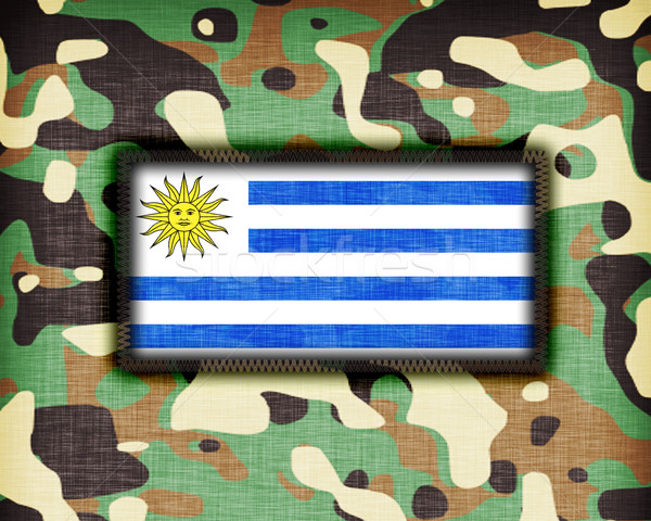 Camouflage uniform Uruguay vlag abstract groene Stockfoto © michaklootwijk