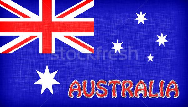 флаг Австралия письма звезды путешествия ткань Сток-фото © michaklootwijk