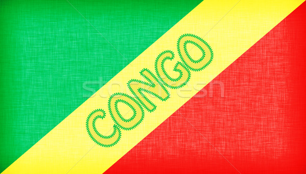 Flag of Congo stitched with letters Stock photo © michaklootwijk