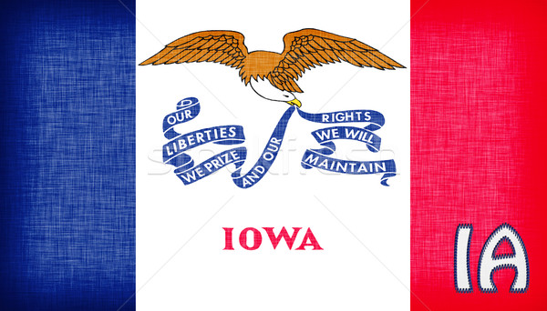 Linen flag of the US state of Iowa Stock photo © michaklootwijk