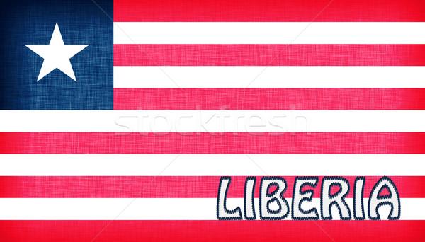 リネン フラグ リベリア 文字 テクスチャ 風景 ストックフォト © michaklootwijk