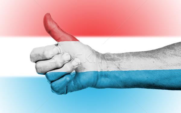 Oude vrouw teken geïsoleerd vlag Luxemburg Stockfoto © michaklootwijk