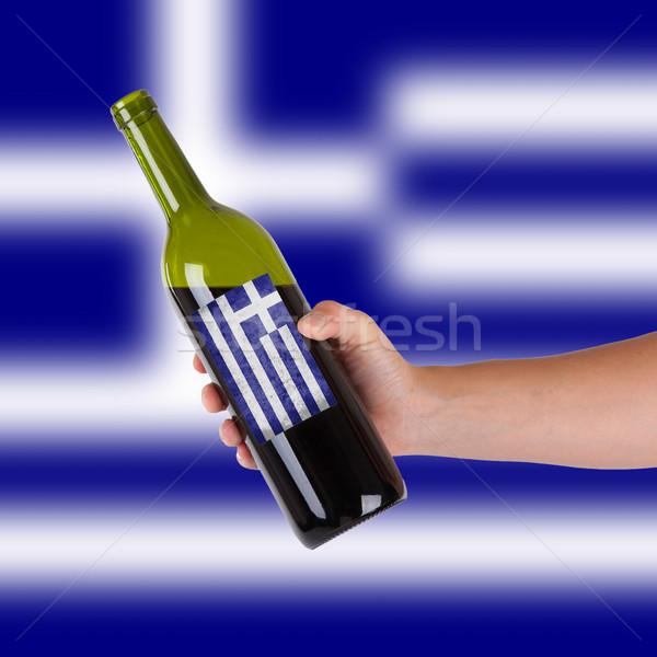 стороны бутылку Label Греция Сток-фото © michaklootwijk