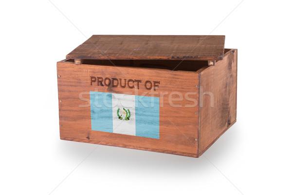 Stock fotó: Fából · készült · láda · izolált · fehér · termék · Guatemala