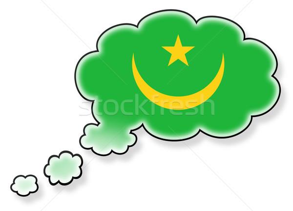 Vlag wolk geïsoleerd witte Mauritanië kunst Stockfoto © michaklootwijk
