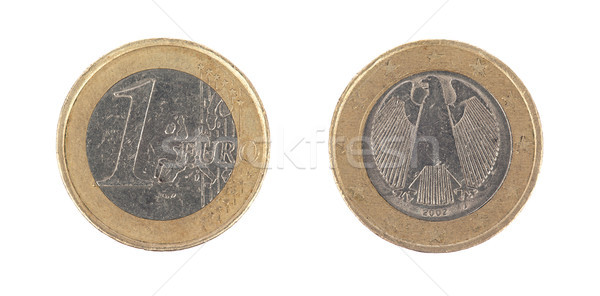 One euro coin macro isolated on white Stock photo © michaklootwijk