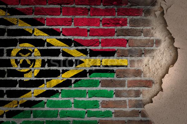 Escuro parede de tijolos gesso Vanuatu textura bandeira Foto stock © michaklootwijk