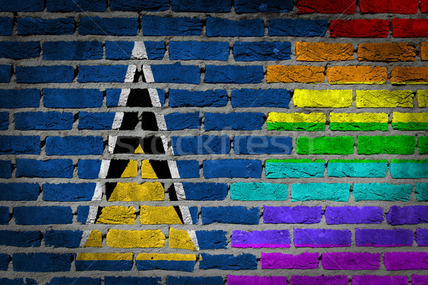 Dark brick wall - LGBT rights - Saint Lucia Stock photo © michaklootwijk