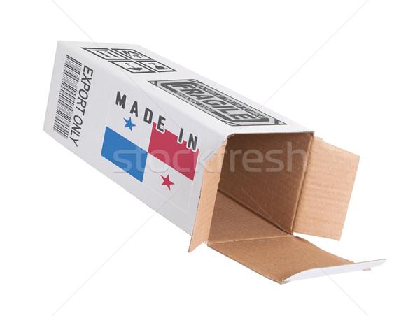 Stock fotó: Export · termék · Panama · kinyitott · papír · doboz