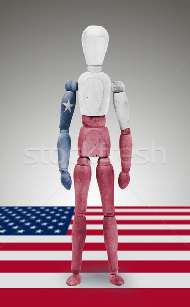 Hout cijfer etalagepop vlag Texas oud hout Stockfoto © michaklootwijk