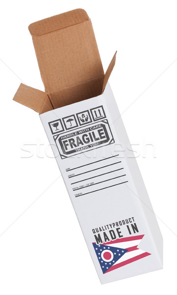 Ihracat ürün Ohio kâğıt kutu Stok fotoğraf © michaklootwijk